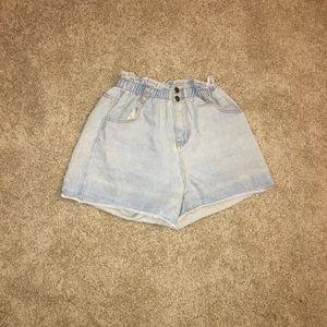 Size Small light wash denim shorts